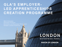 Gla`s Employer- led Apprenticeships Creation Programme Agenda