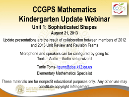 Aug21_MathKUnit1Update - Georgia Mathematics Educator