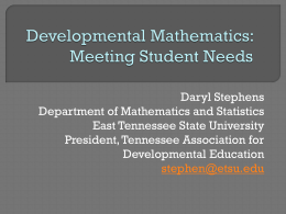 Developmental Mathematics - faculty