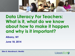 Data Literacy for Teachers