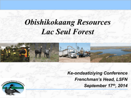 Lac Seul Forest - Ke-ondaatiziying Conference