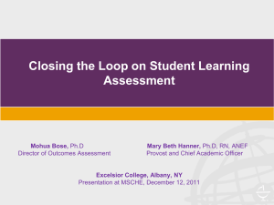 Closing the Loop on Student Learning Assessment