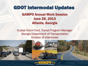 GDOT Intermodal – Crystal Odum Ford