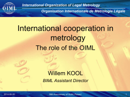 Vocabulary of legal metrology