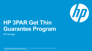 HP 3PAR Get Thin Guarantee Program