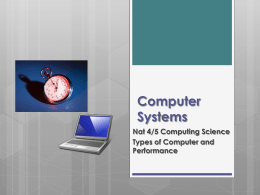 Types of Computer - Shawlands Academy