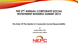 the 2nd annual corporate social investment business summit 2013