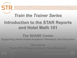 TTT - Intro to STAR Reports