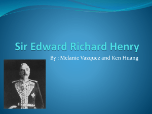 Sir Edward Richard Henry - OldForensics 2012-2013
