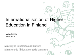 Strategy for the Internationalisation of Higher Education