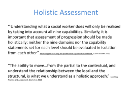 NOPT holistic assessment - National Organisation for Practice