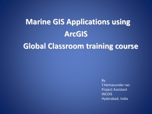 Marine GIS Applications using ArcGIS Global