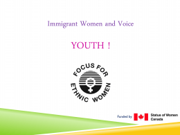 IWV Youth Powerpoint – Week 3 Multiculturalism in Canada