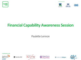 Financial Capability - Living and Learning Together