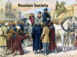 Russian Society Lecture