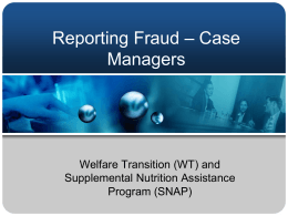Reporting Fraud for Case Managers
