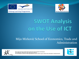 SWOT Analysis on ICT
