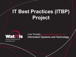 IT Best Practices (ITBP) Project