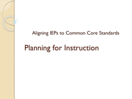 File - Instructional planning for students with disabilities
