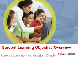 SLO Overview - Pickaway-Ross Career & Technology Center
