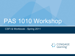 PAS 1010 Workbook