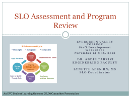 SLO Assessment Program Review Nov 12