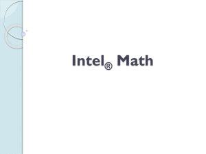Massachusetts Intel® Math Initiative (MIMI)