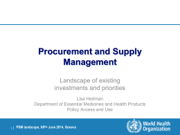 on procurement and supply management