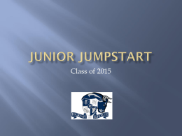 Junior Jumpstart - Cabarrus County Schools