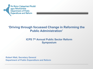 Robert Watt - 8th Public Administration Reform Symposium and