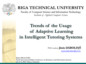 Trends of the Usage of Adaptive Learning in Intelligent Tutoring
