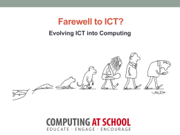 Evolving ICT into Computing Secondary