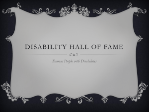 Disability hall of fame