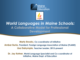 Power Point - Foreign Language Association of Maine