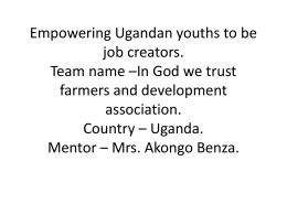 Empowering Ugandan youths to be job creators