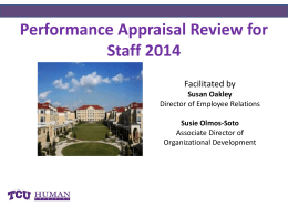 why a performance appraisal staff 2014