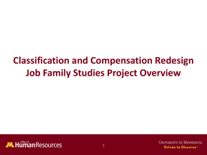 Job Family Studies Overview Presentation (ppt)