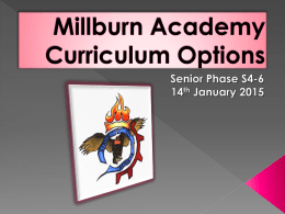 Senior Phase Options Evening Presentation 14 Jan 2015 Final