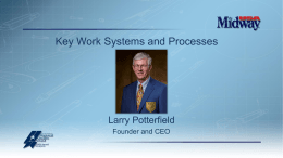 Key Processes and Work Systems
