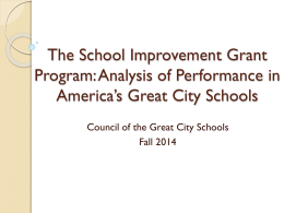 Key Performance Indicators - Council of the Great City Schools