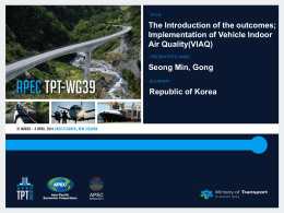Implementation of Vehicle Indoor Air Quality(VIAQ)