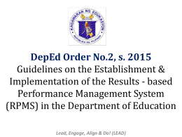 RPMS Powerpoint - Department of Education Division of Bataan