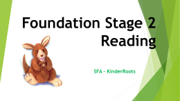 KinderRoots Reading Workshop