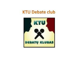 KTU Debate club