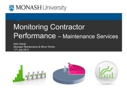 Contractor Performance Management