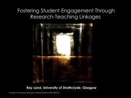 Research-Teaching Linkages: