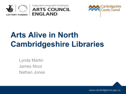 Arts Alive in North Cambridgeshire Libraries