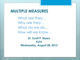 Multiple Measures S.Myers