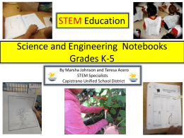 Science Notebooking for K