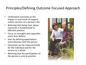 Outcomes - Emma Miller - Self Directed Support Scotland